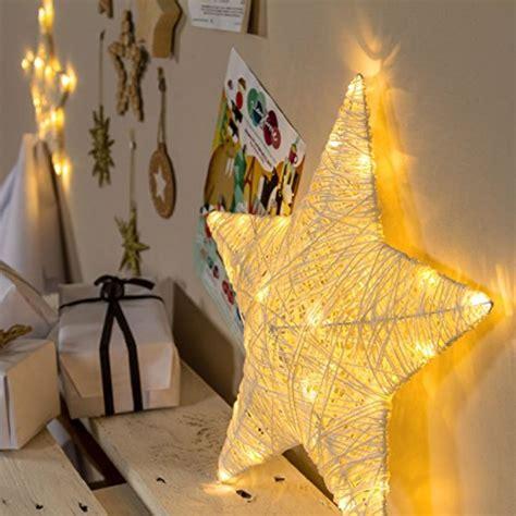 stelle da appendere al soffitto stella di carta da appendere 40 cm 25 led bianco caldo