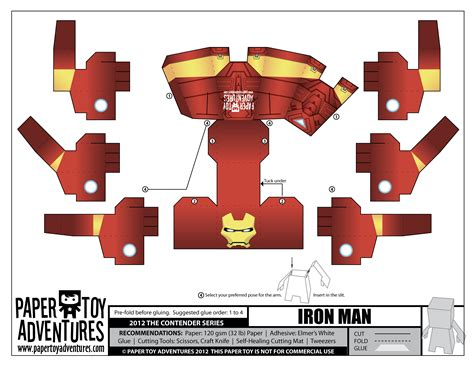 Papercraft Toys - age of ultron papercraft iron papercraft
