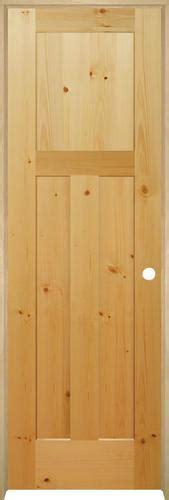 Knotty Pine Prehung Interior Doors Mastercraft Knotty Pine Flat Mission 3 Panel Prehung Interior Door At Menards 174