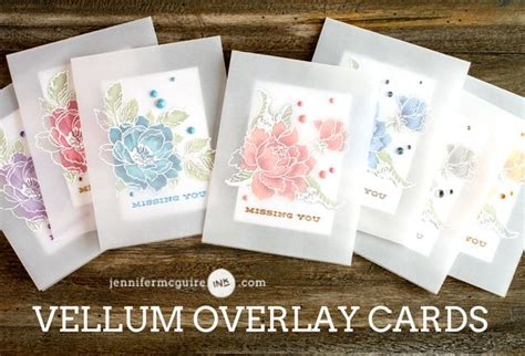 using vellum in card vellum overlay card hop giveaway