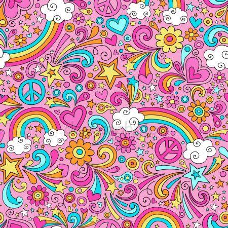 rainbow pattern doodle back to school notebook doodles rainbow seamless pattern