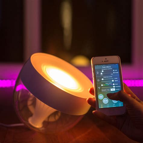 philips hue bloom dimmable led smart table l buy philips hue led table l lewis lights