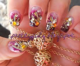 prettyfulz cute nail art design purple deco nail art