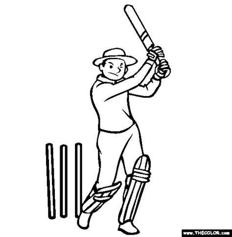 Cricket Colouring Pages Cricket Sport Coloring Pages Sketch Coloring Page by Cricket Colouring Pages