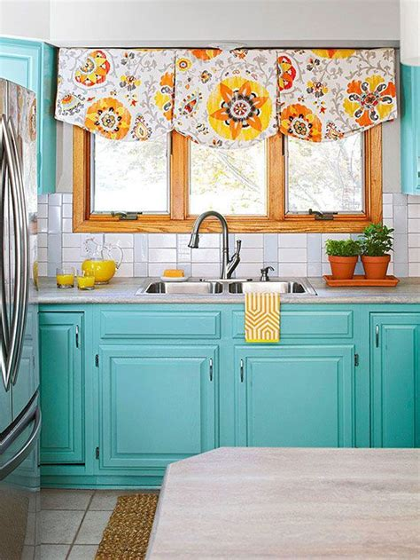 bright colors in kitchen design her beauty subway tile backsplash turquoise cabinets subway tile