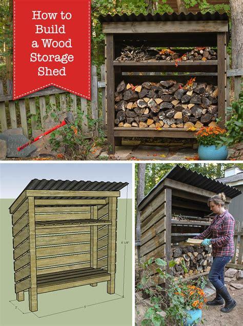 easy  build diy firewood shed plans  design ideas