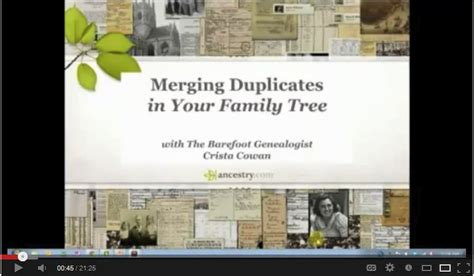 How To Merge On Family Search How To Delete And Merge Duplicates In Ancestry Family Tree Genealogy Gems