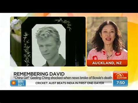 china girl actress david bowie david bowie death sunrise australia tv including china