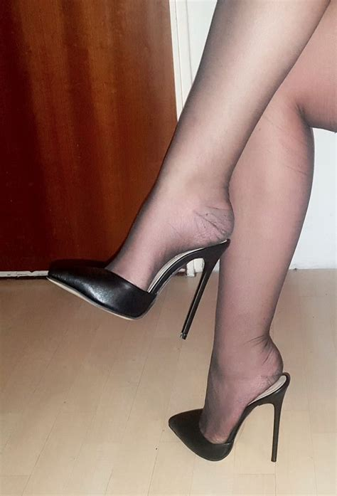 Sandal Wanita Ir 12 Wedges 3cm high heels stiletto mules in schwarz matt mit 13 cm absatz in gr 39 ebay