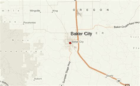 map of oregon baker city baker city location guide