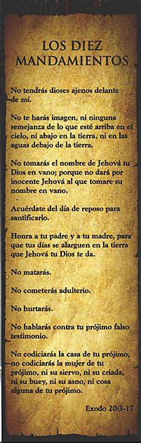 separadores de biblia para imprimir los diez mandamientos 10 commandments lifeway