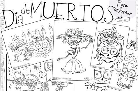 imagenes infantiles para colorear del dia de muertos dibujos d 237 a de muertos manualidades infantiles
