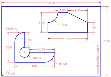 autocad 2007 2d tutorial for beginners rotate fillet chamfer array autocad tutorial and video