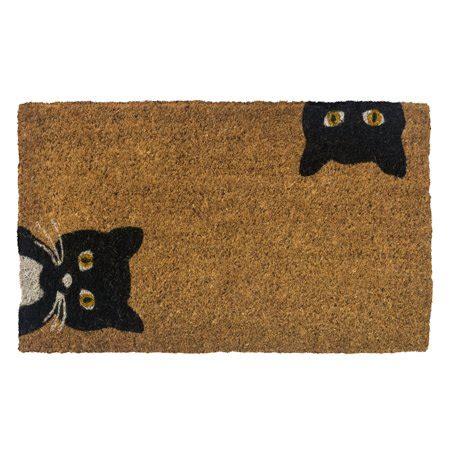 Fiber Doormat by Entryways Peeping Cats Woven Coconut Fiber Doormat