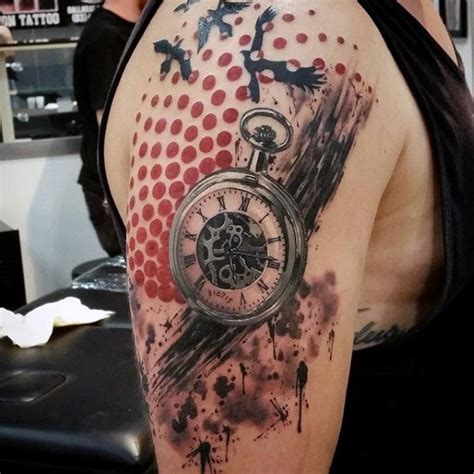 modern art tattoo designs 100 pocket designs for cool timepieces