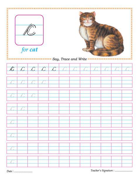 Cursive Small Letter C Practice Worksheet Download Free