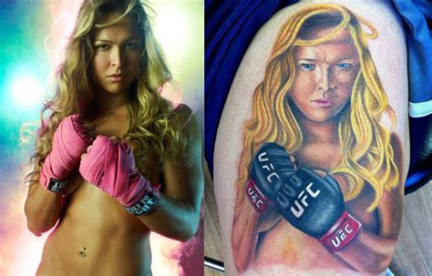 ronda rousey breast implants before and after i can t tell if this ronda rousey tattoo is brilliant or