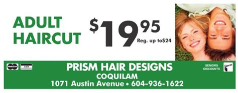 haircut deals kelowna adult haircut 19 95 at prism hair designs health