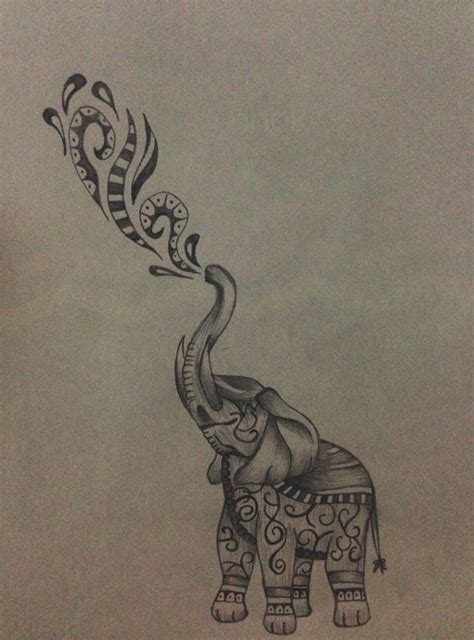 elephant tattoo with music notes 30 best my artworks images on pinterest tattoo ideas