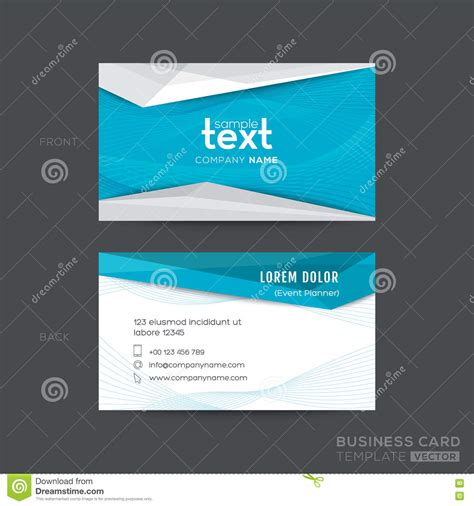 business card template wavy design blue wave business card template vector illustration