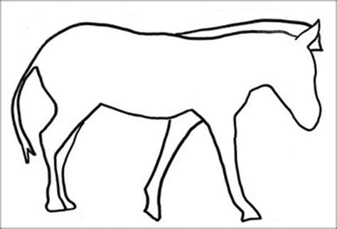 Blank Zebra Coloring Page | preschool storytime thelibraryann