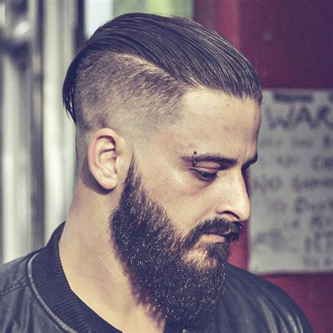 slick back hair and beard 19 slicked back hairstyles men s haircuts hairstyles 2017