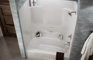 shower and tub stalls as one piece mirolin belaire 1 piece acrylic dome less tub and shower