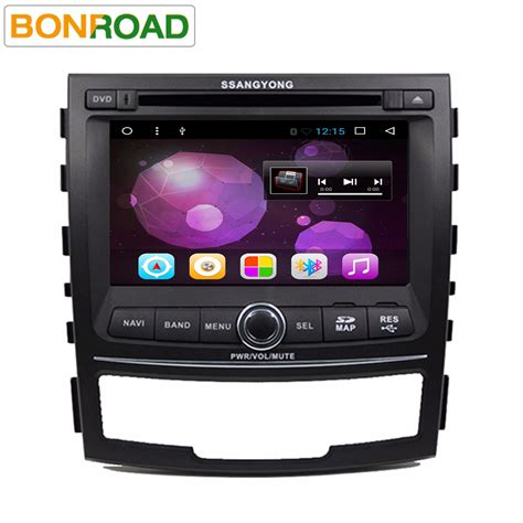 Android Ram 2 G 2g ram android 6 01 car dvd player for ssangyong korando 2010 2012 with 1024 600