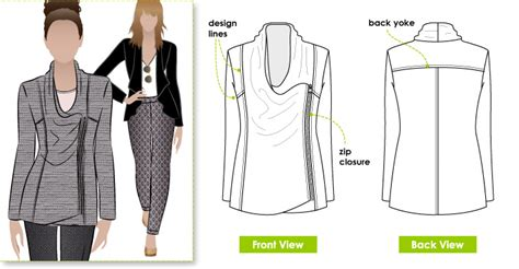 pattern review style arc stylearc marie jacket