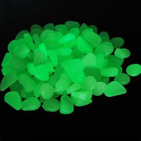 glow in the dark rocks home garden yard fish tank walkway glow in the dark decor