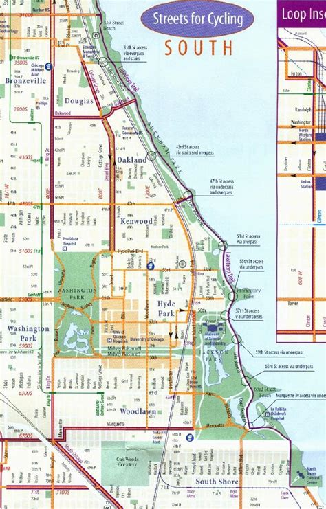 chicago map of america chicago bike map chicago bike map united states of