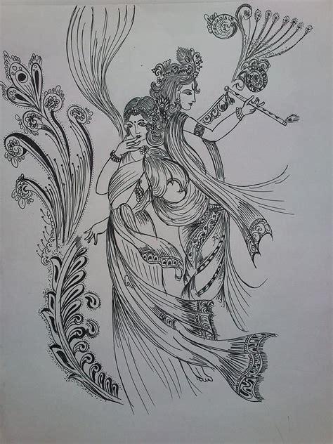 doodle god india lord krishna drawing by aditya sarawagi