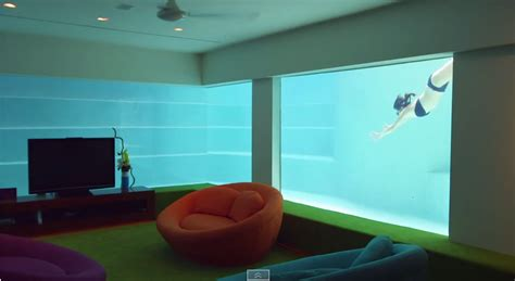 seafront home in singapore with underwater media room video singapore million dollar rooms feat underwater