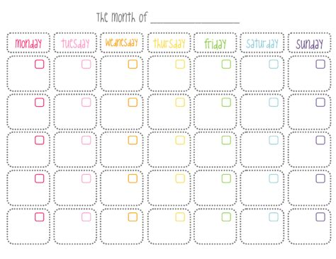 printable calendar cute 7 best images of cute printable blank calendar cute