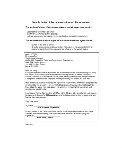 Endorsement Letter Promotion Sle Endorsement Letter Endorsement Letter 60 Now 11 Sle Endorsement Letters