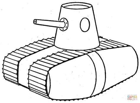 ww1 style tank coloring page free printable coloring pages