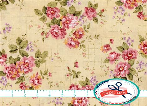 shabby chic fabric 1 yard shabby floral fabric by the yard quarter pink fabric shabby chic fabric