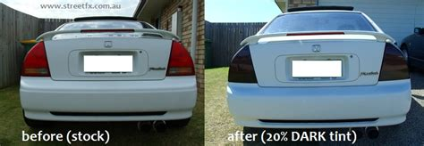 streetfx motorsport and graphics are tinted tail lights