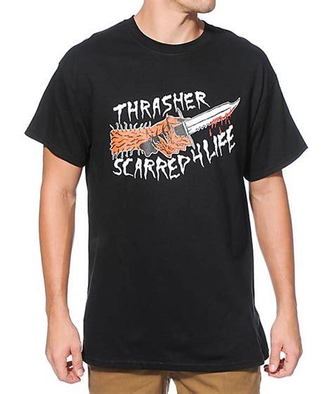 Kaos Tshirt Thrasher Skate Premium thrasher neckface scarred black free post new skateboard magazine t shirt