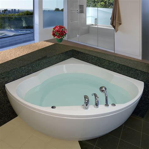 bathtub corner aquatica cleo wht corner soaking bathtub atg stores