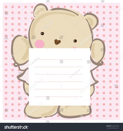 Teddy Baby Shower Invitation Template Free by Baby Shower Baby Card Invitation Template Vector
