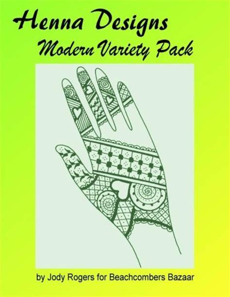 henna modern variety pack design book fresh new henna