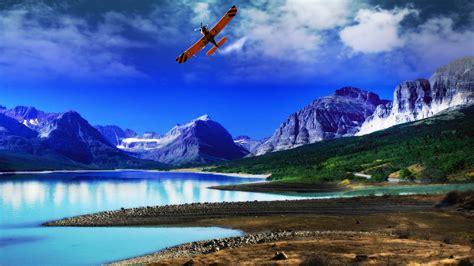 wallpaper laptop animasi hd airplane full hd wallpaper and background image