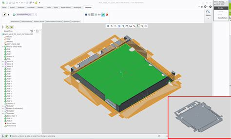 creo flat pattern on drawing solved not able to flat pattern in creo 2 0 sheetmetal
