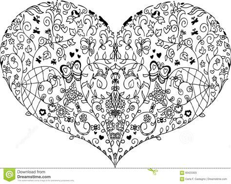 Mandala Del Corazón De La Primavera Ilustración del Vector