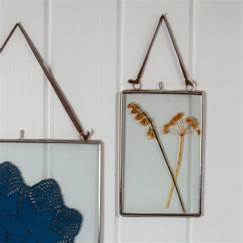 dotcomgiftshop hanging glass photo frame small ebay