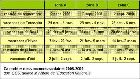 Calendrier Scolaire 2008 Vacances Scolaires Et Rentr 233 E Des Classes Calendrier