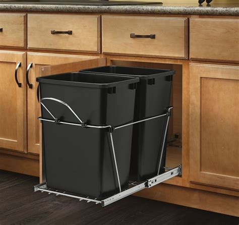 under cabinet trash bins 5 best under counter pull out trash can elegantly and