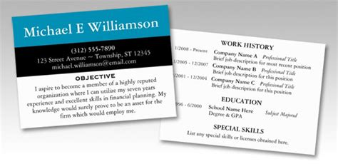 Resume Business Card Template by Ghostwriter Ghostwriter Wiki Wikia Resume On Business