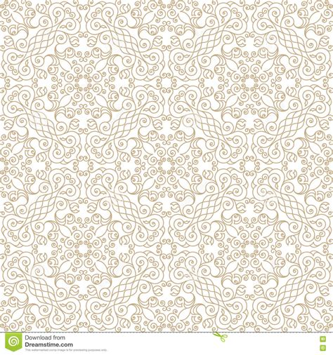 gold vintage design elements vector vector seamless pattern with art ornament for design stock